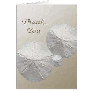 Obrigado do dólar de areia você cartões