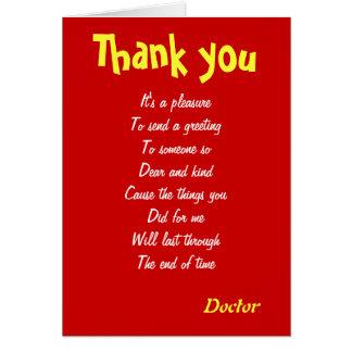 Obrigado do doutor você cartões