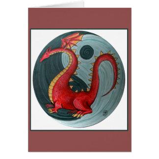 Obrigado do dragão de Yin Yang você notas Cartão Comemorativo