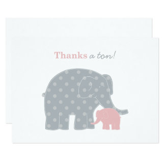 Obrigado do elefante você cartões de nota lisos |