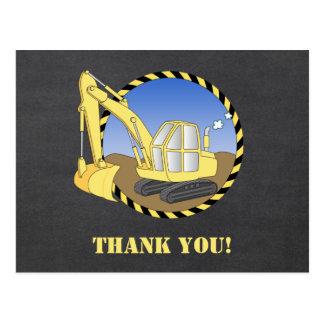 Obrigado do escavador da máquina escavadora da cartão postal