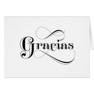 Obrigado do espanhol de Gracias você cartões