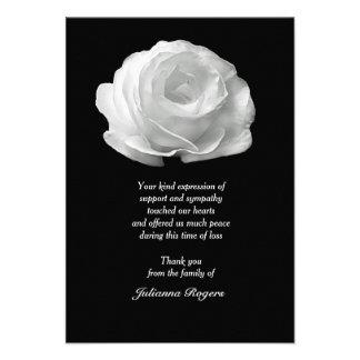 Obrigado do falecimento do rosa branco você Noteca