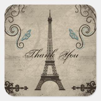 Obrigado do Grunge da torre Eiffel você etiqueta
