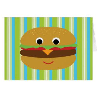 Obrigado do hamburguer você cartões