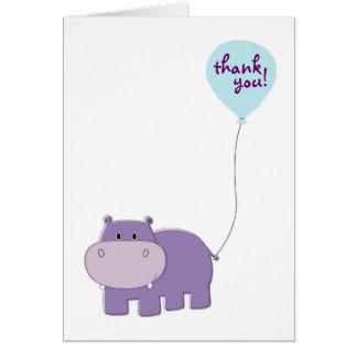 Obrigado do hipopótamo você cartões