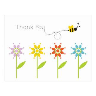 Obrigado do jardim da margarida do zangão você cartão postal