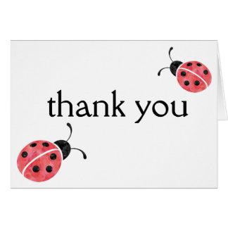 Obrigado do joaninha da aguarela você cartões