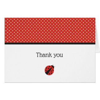 Obrigado do joaninha você cartão de nota