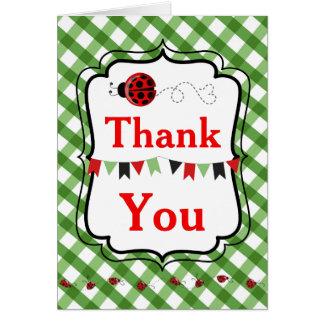 Obrigado do joaninha você cartões