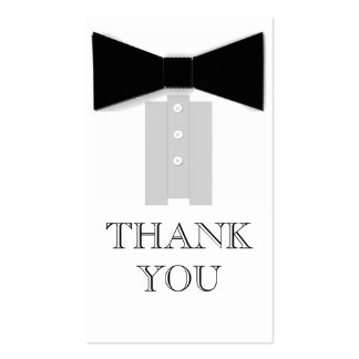 Obrigado do laço você cartões modelos cartões de visita