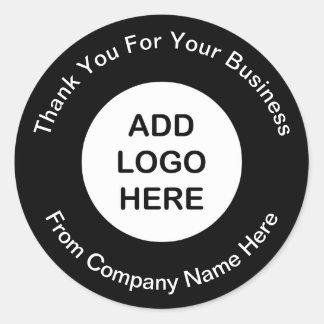 Obrigado do logotipo do negócio você etiquetas adesivo