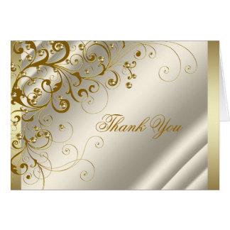 Obrigado do marfim e do ouro você cartões