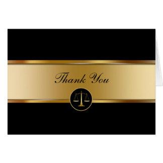 Obrigado do negócio do advogado você cartões