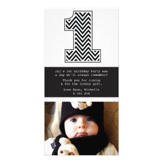 Obrigado do número 1 do primeiro aniversario do be cartao com foto personalizado