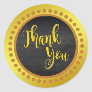 Obrigado do ouro de Brown da sandália você Adesivo Redondo