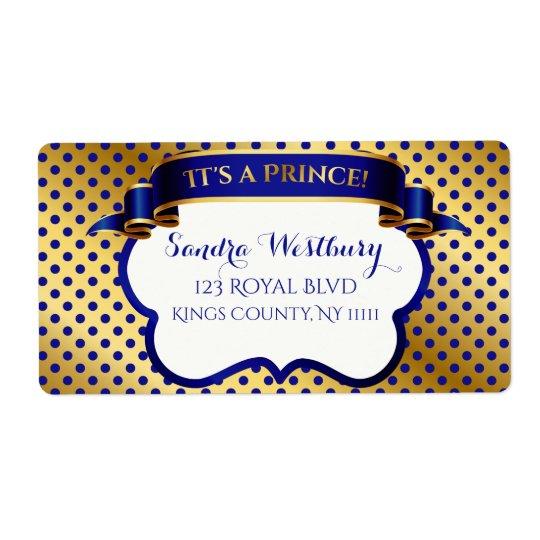 Obrigado do ouro do príncipe azul marinho você etiqueta de frete