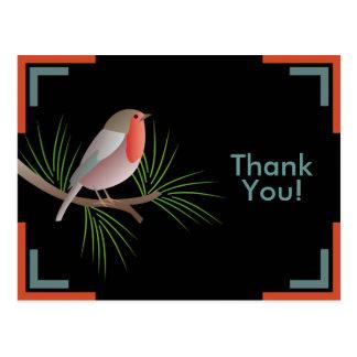 Obrigado do papo-roxo você cartão