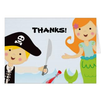 Obrigado do partido do pirata e da sereia você not cartão