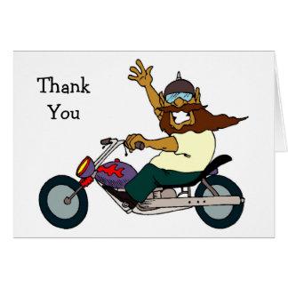 Obrigado do passeio da motocicleta você cartões