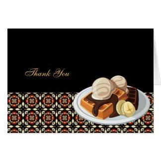 Obrigado do pequeno almoço você cartão comemorativo