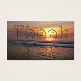 Obrigado do por do sol você cartão de visita