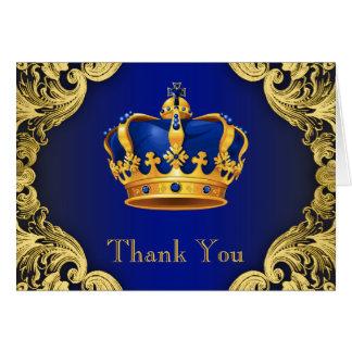 Obrigado do príncipe chá de fraldas você cartões