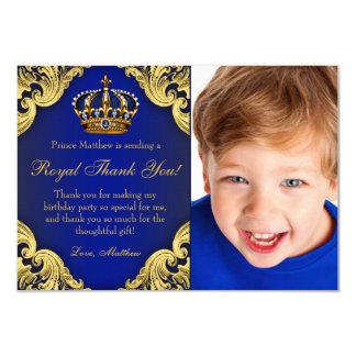 Obrigado do príncipe festa de aniversário você convite 8.89 x 12.7cm