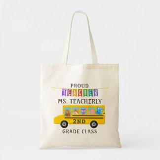 Obrigado do professor você ônibus bonito feito sob bolsa tote