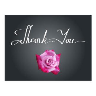 Obrigado do quadro do rosa do rosa você cartão da