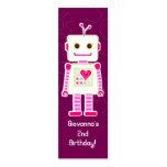 Obrigado do robô da menina você Tag do presente Modelos Cartão De Visita