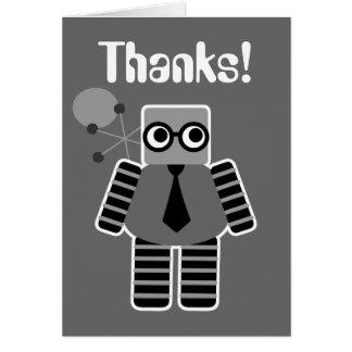 Obrigado do robô do geek você cartões