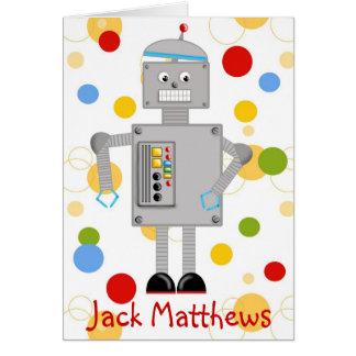 Obrigado do robô você cartão de nota