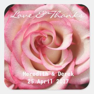 Obrigado do rosa da cor do pêssego você etiqueta