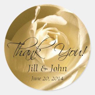 Obrigado do rosa do creme você etiquetas do favor adesivo