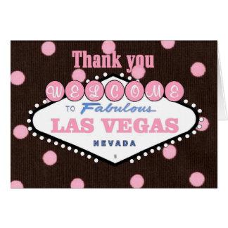 Obrigado do rosa do Mocha você cartão de Las Vegas
