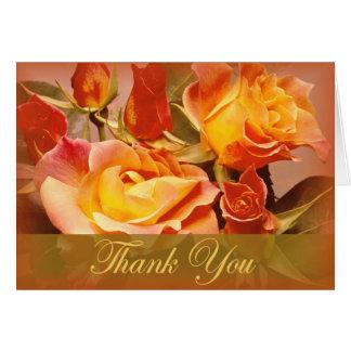 Obrigado do rosa do outono você cartões