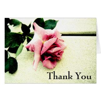 Obrigado do rosa do rosa você cartão de casamento