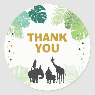 Obrigado do safari dos Tag do favor de partido do Adesivo Redondo