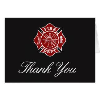 Obrigado do sapador-bombeiro você cartão