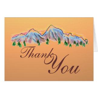 Obrigado do tema do outono da montanha você cartõe cartão de nota