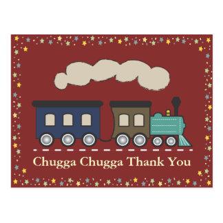 Obrigado do trem você cartão - vermelho