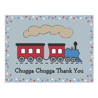 Obrigado do trem você cartão - vermelho, branco &