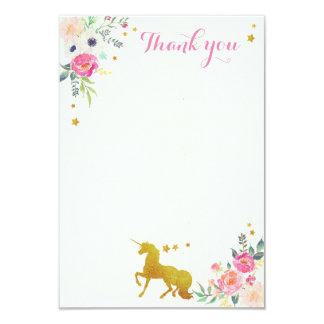 Obrigado do unicórnio você cartão de nota convite 8.89 x 12.7cm