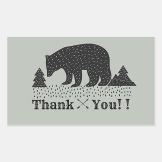 obrigado do urso da floresta você etiquetas