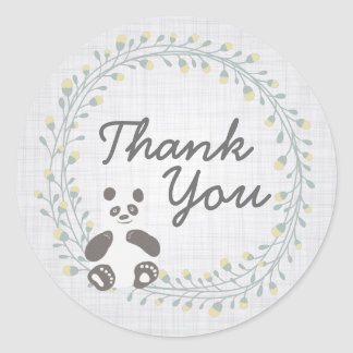 Obrigado do urso de panda você etiquetas