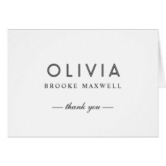 Obrigado dobrado você cartões de nota | preto e