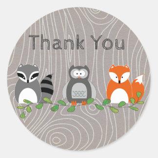 Obrigado dos animais da floresta você etiqueta