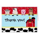 Obrigado dos animais do Barnyard você aniversário