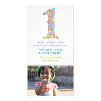 Obrigado dos balões do primeiro aniversario do beb